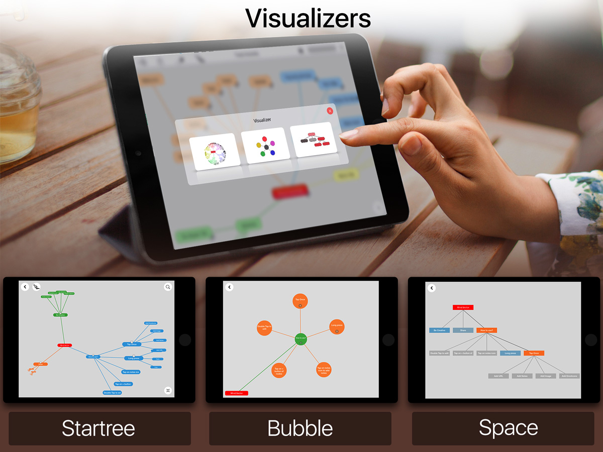 Mind mapping app for iOS
